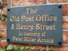 Engraved slate house name sign / address plaque – 300mm x 200mm; 11.8 inches x 7.9 inches